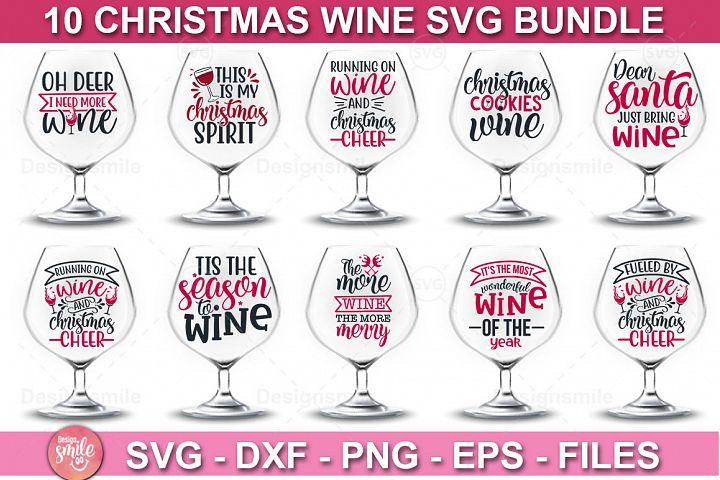 Christmas SVG  Christmas Wine SVG   10 Designs