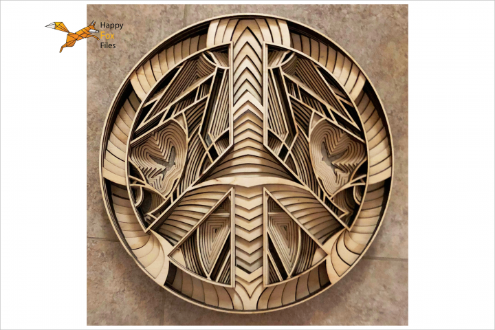 Multilayer Mandala Pacific Files for CNC Laser