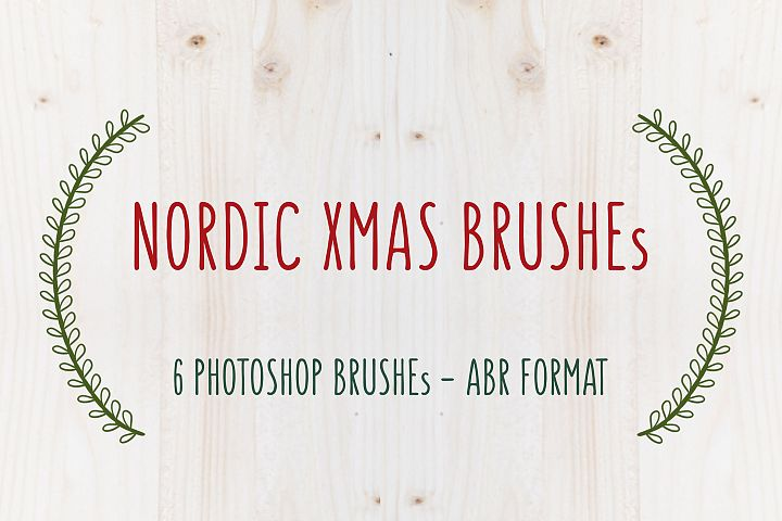 NORDIC XMAS - Photoshop brushes by TdT