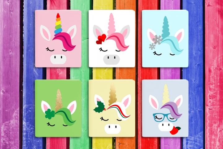 Seasonal Unicorn Crown Set SVG File Cutting Template