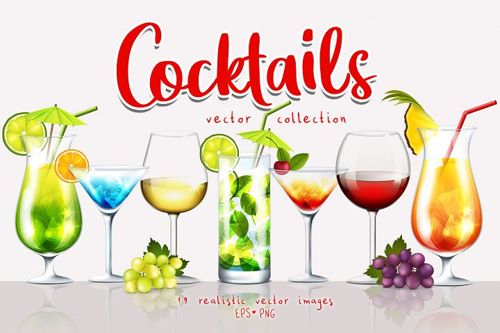 Cocktails Vector Collection