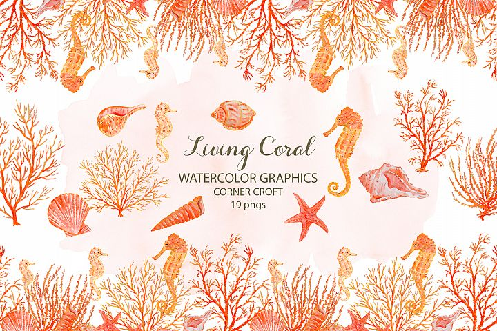 Watercolor Living Coral