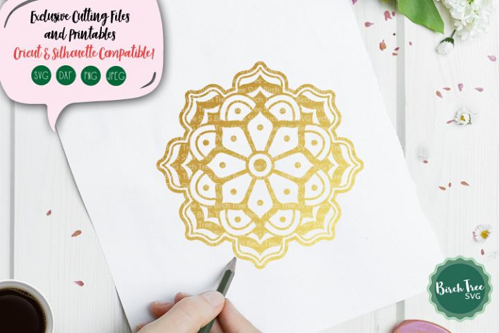 Floral Mandala Svg, Boho Flower Svg Cut File, Flower Decal