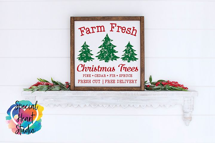 Farm Fresh Christmas Trees - A Christmas or Winter SVG Cut