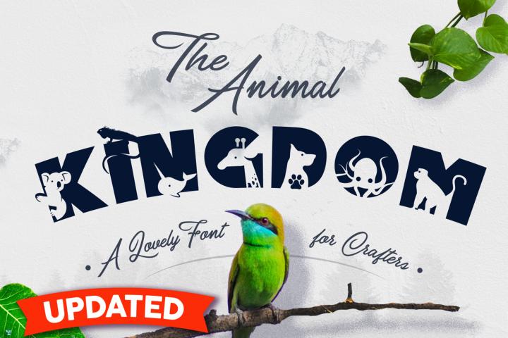 Animal Kingdom Craft Font | Wild Animals Font