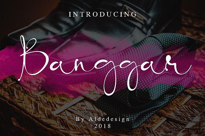 Banggar Signature Font