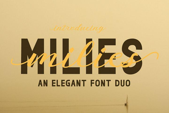 milies | an elegant font duo