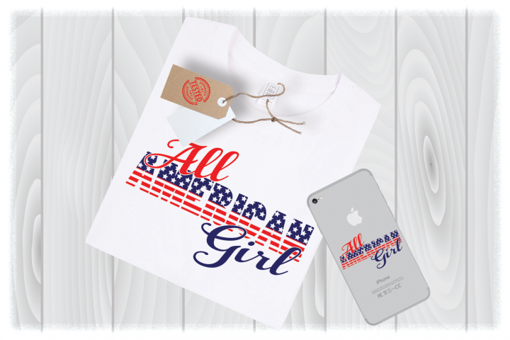 All American Girl SVG Files for Cricut Designs