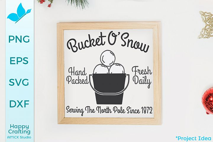 Bucket Of Snow - A Winter Sign Craft File