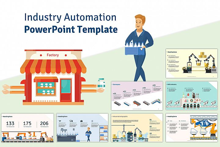 Industry Automation PowerPoint Template