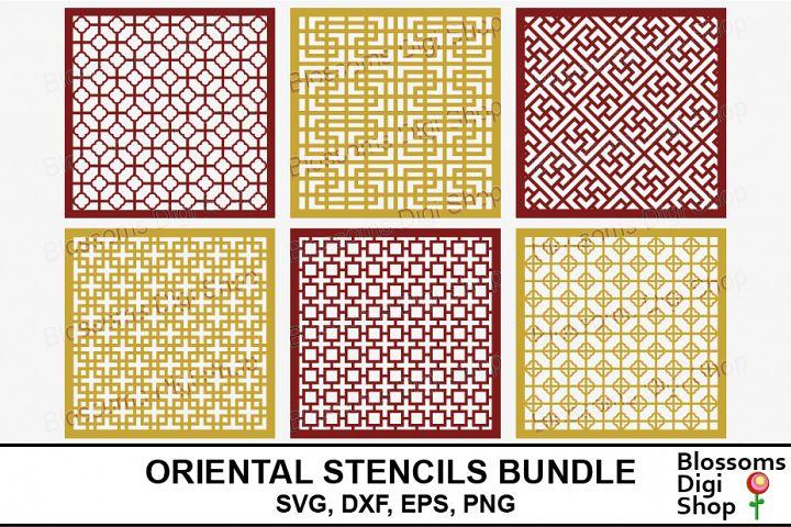Oriental Stencil Bundle