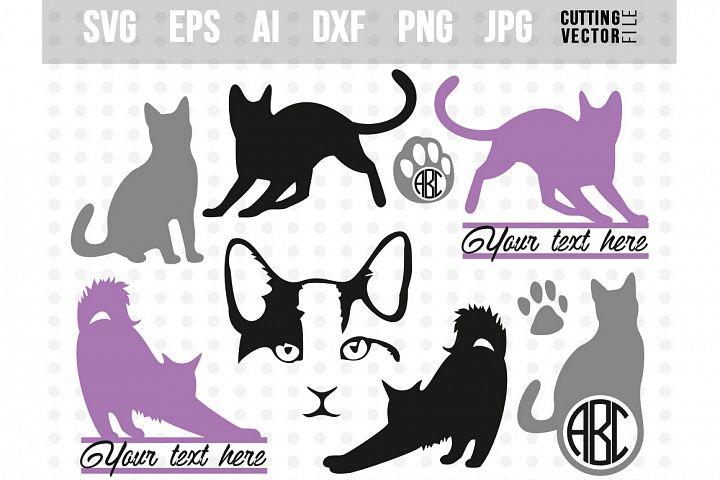 Cat Vector Bundle - svg, eps, ai, dxf, png, jpg