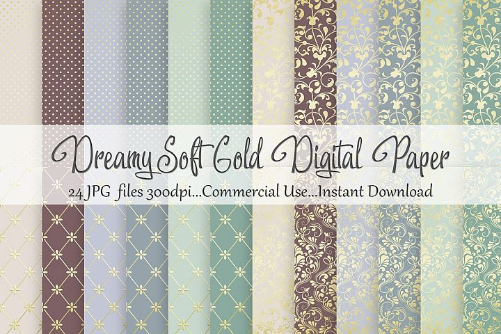 Dreamy Soft Gold Digital Paper