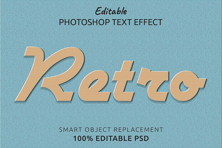 Retro Editable Photoshop Text Style Effect