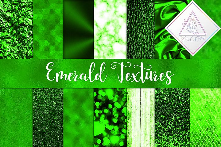 Emerald Textures Digital Paper