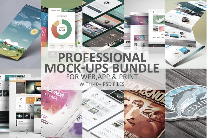 Professional Mock-Ups Bundle