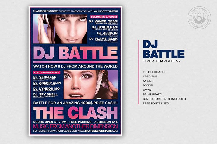 DJ Battle Flyer Template V2