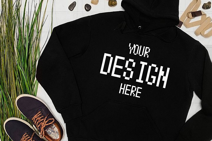 Gildan black Hoodie mockup Sweatshirt Mock-up