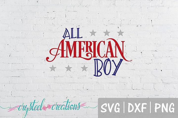 All American Boy SVG, DXF, PNG