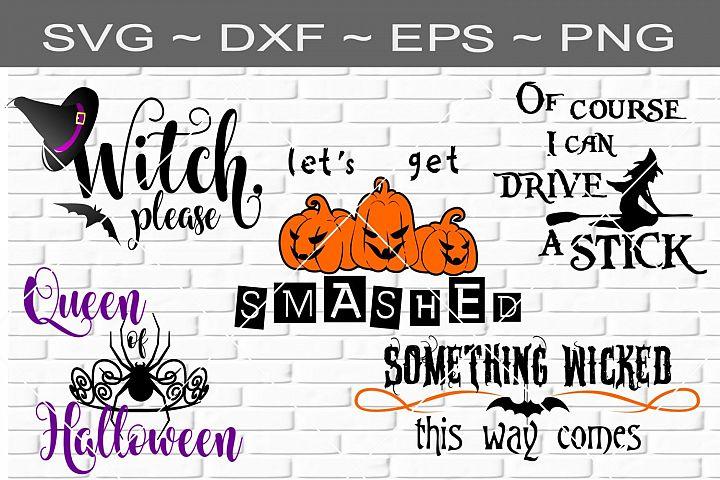 Halloween Bundle 2 Cutting File SVG DXF EPS