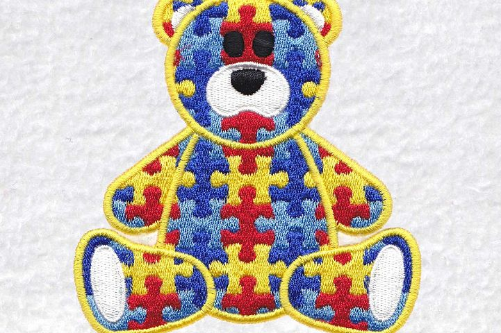 Teddy Bear Sitting Puzzle Detail Design