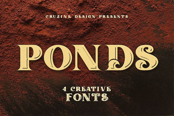 Ponds Typeface example image 5