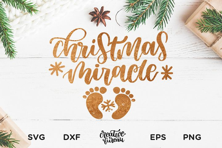 Christmas Miracle SVG DXF, Christmas SVG Cut File