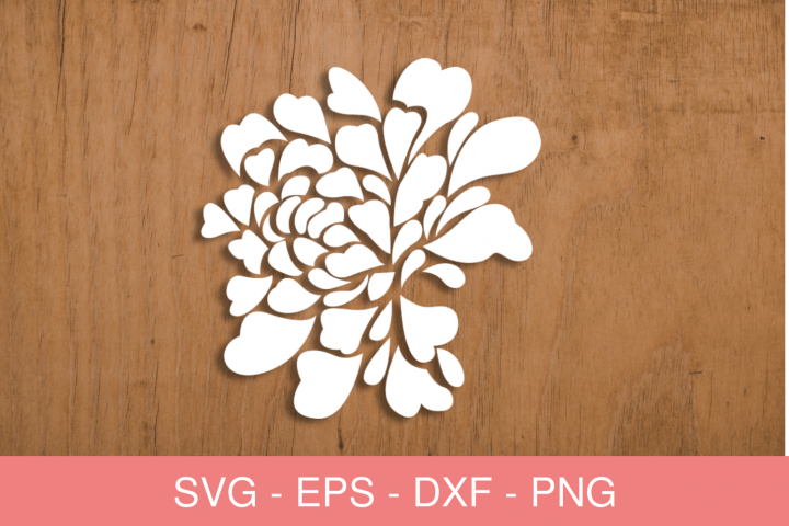 FLOWERS SVG FILES FOR SILHOUETTE AND CRICUT
