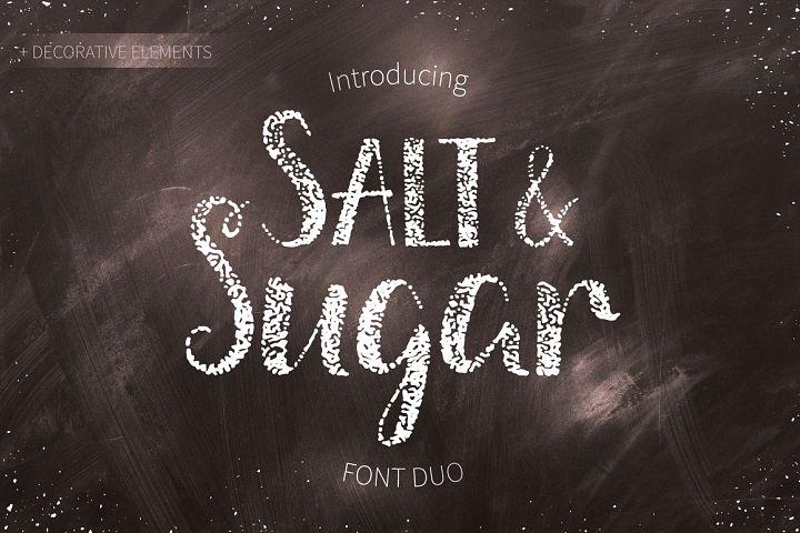 Salt & Sugar.Hand Drawn Font Duo