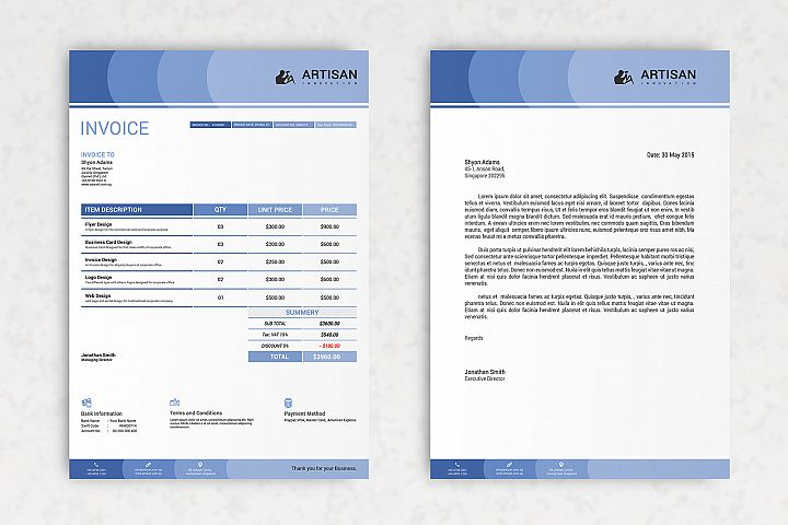 Invoice with Letterhead