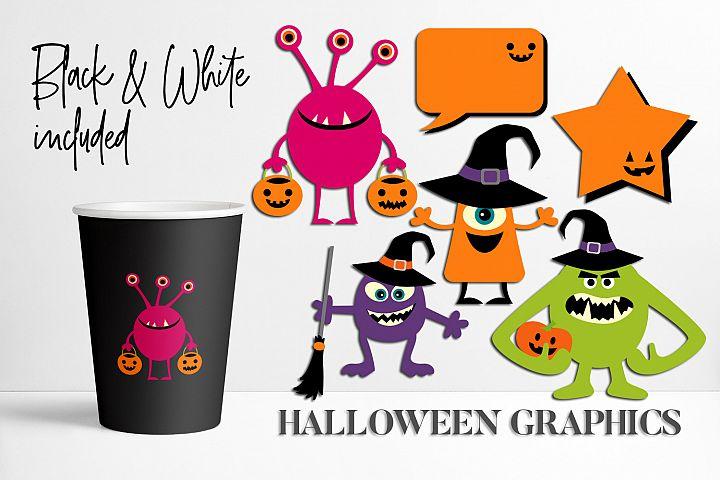 Halloween monster illustrations