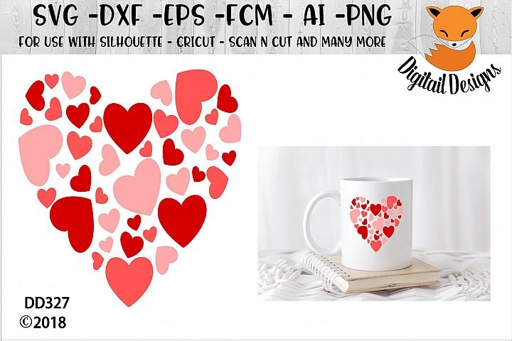 Valentine Hearts SVG