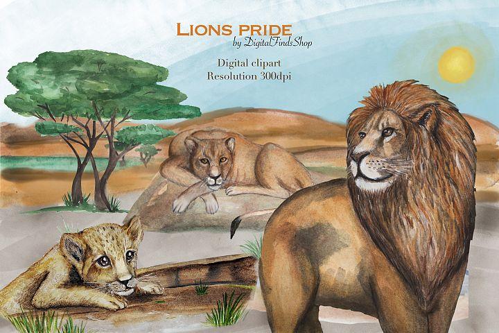 Lion clipart, africa clipart, safari clipar, cute animals