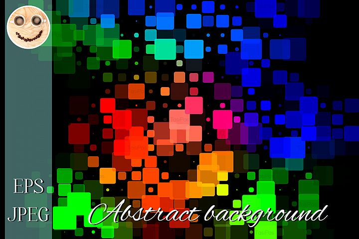 Black green blue red pink glowing various tiles background