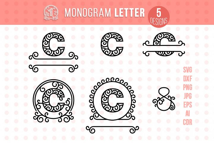 Monogram Letter C