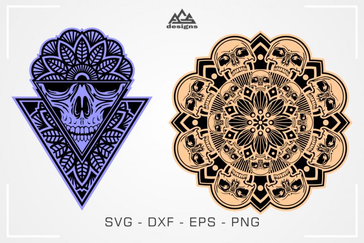 Skull Mandala Art Svg Design