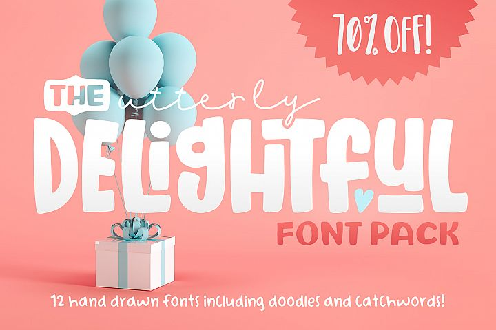 The Utterly Delightful Font Pack