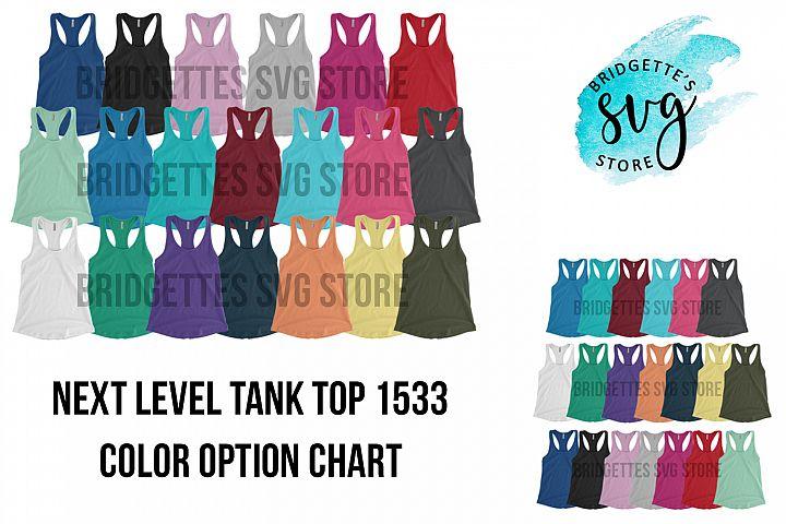 Next Level 1533 Mockup Tank Top Mockup Color Options