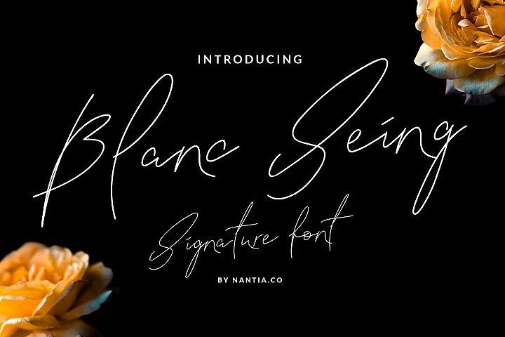 Signature Font Blanc Seing