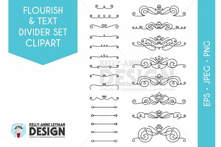 Flourish and Text Divider Set