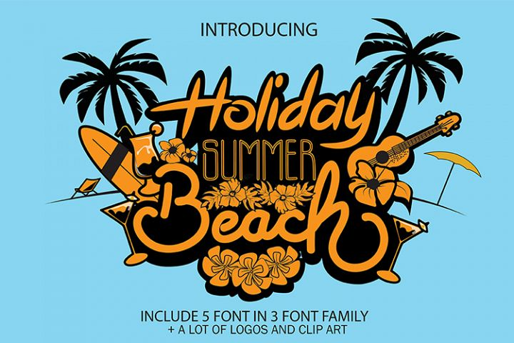 Holiday Summer Beach - 3 Font Family