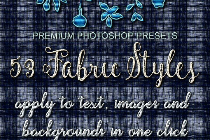 53 Fabric Textures, One Click Effects, Photoshop Layer Style FX, Photoshop ASL FX example 2