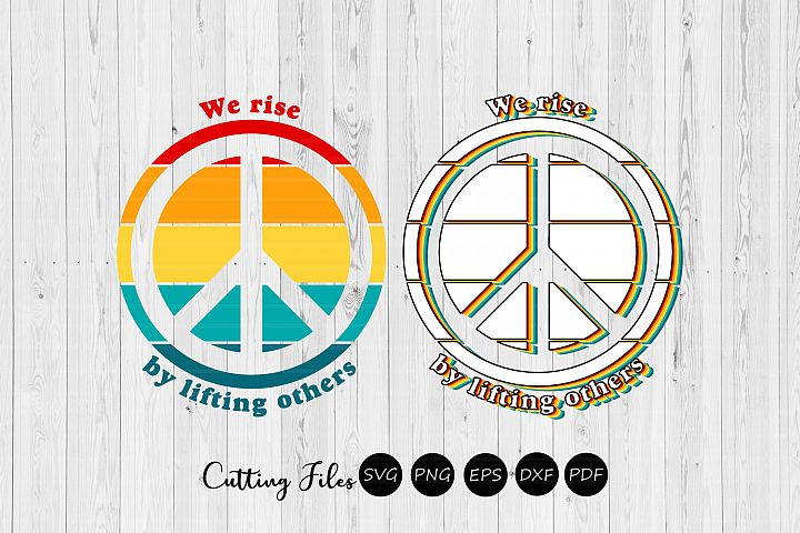 We rise by lifting others| Retro T-Shirt Design |