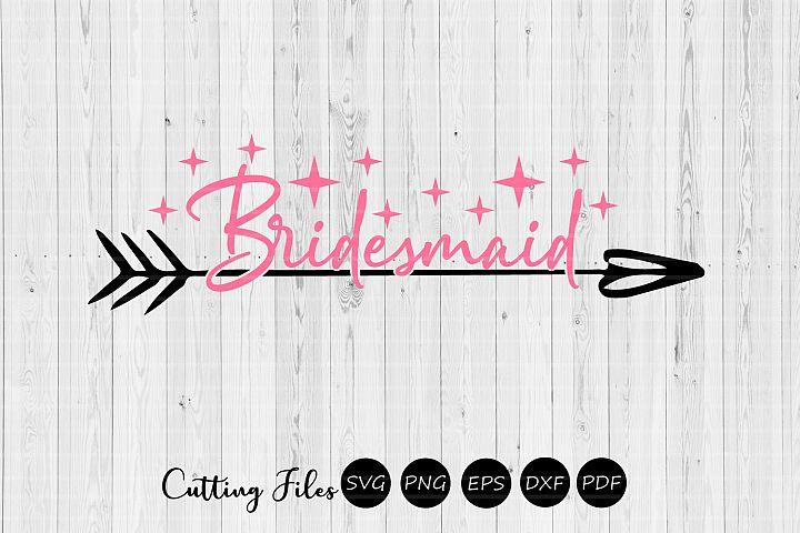 Bridesmaid| wedding svg | svg cut files |