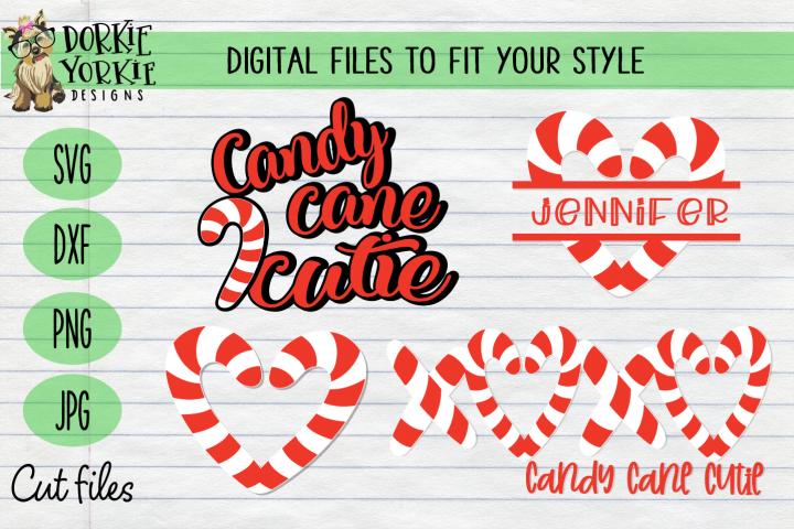 Candy Cane BUNDLE, Name, Heart, Cutie - Christmas, Xmas SVG