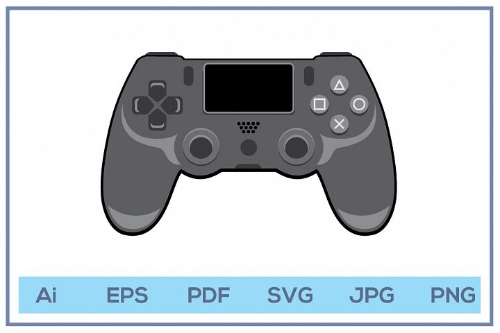 Vector of Play station 4 stick controller game console
