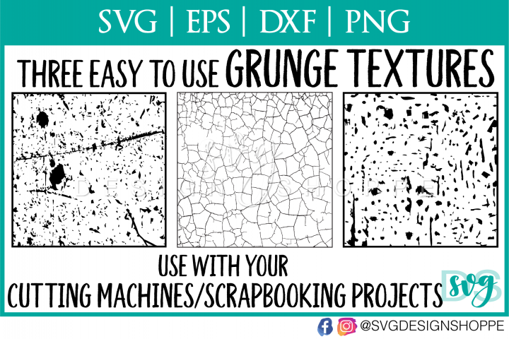 Grunge, Distressed, Texture for Cutting Machines - Free Design of The Week