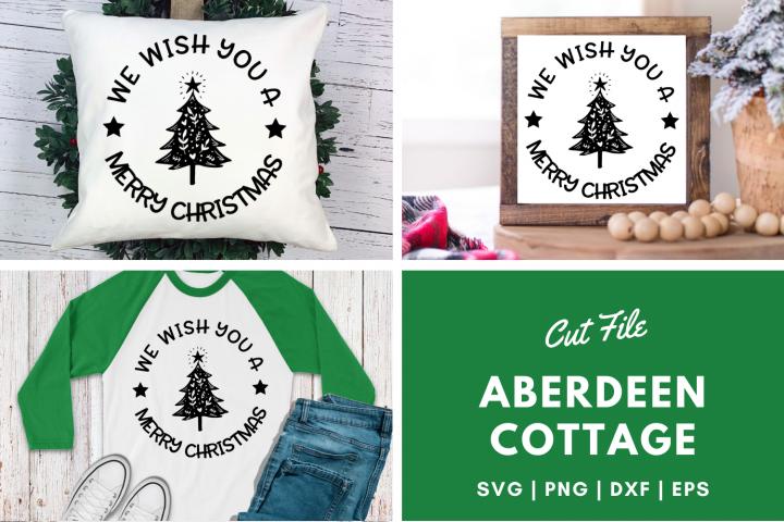 We Wish You a Merry Christmas SVG Design