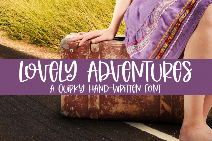 Lovely Adventures - A Quirky Hand-Written Font