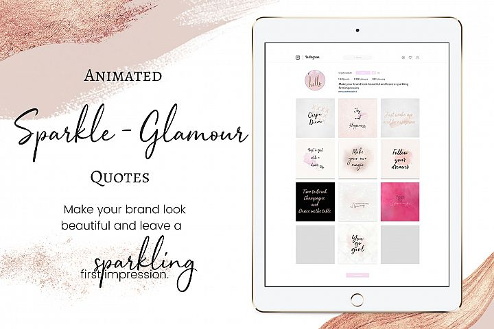 Animated Sparkle - Glamour quotes